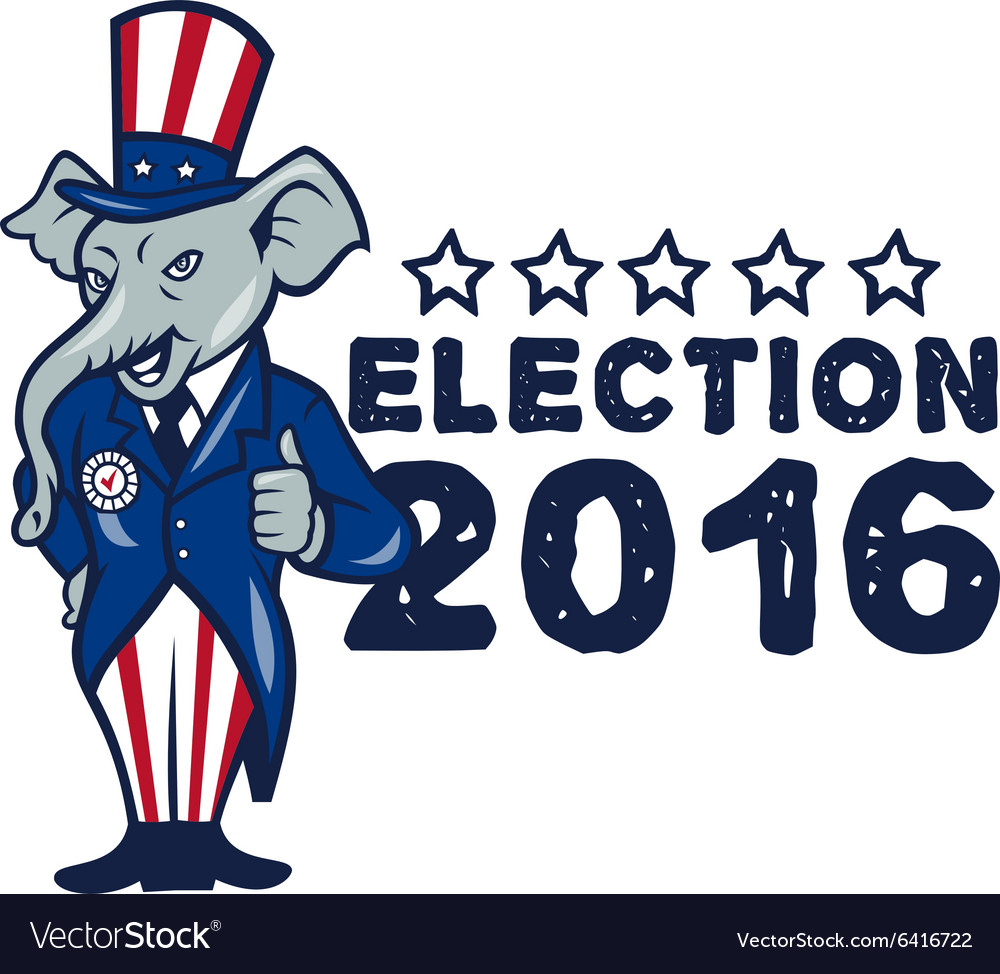 US Election 2016 Republican Mascot Thumbs Up