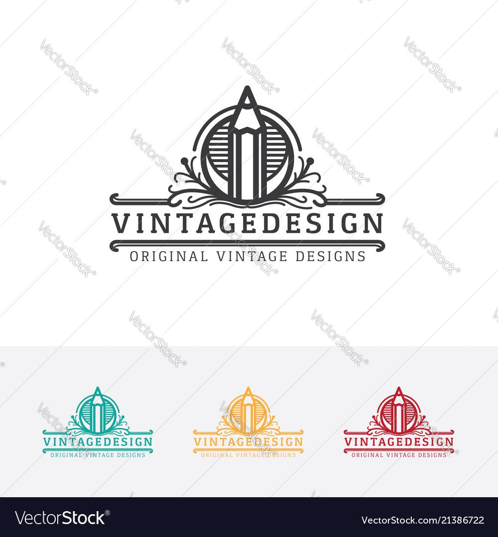 Vintage art logo design