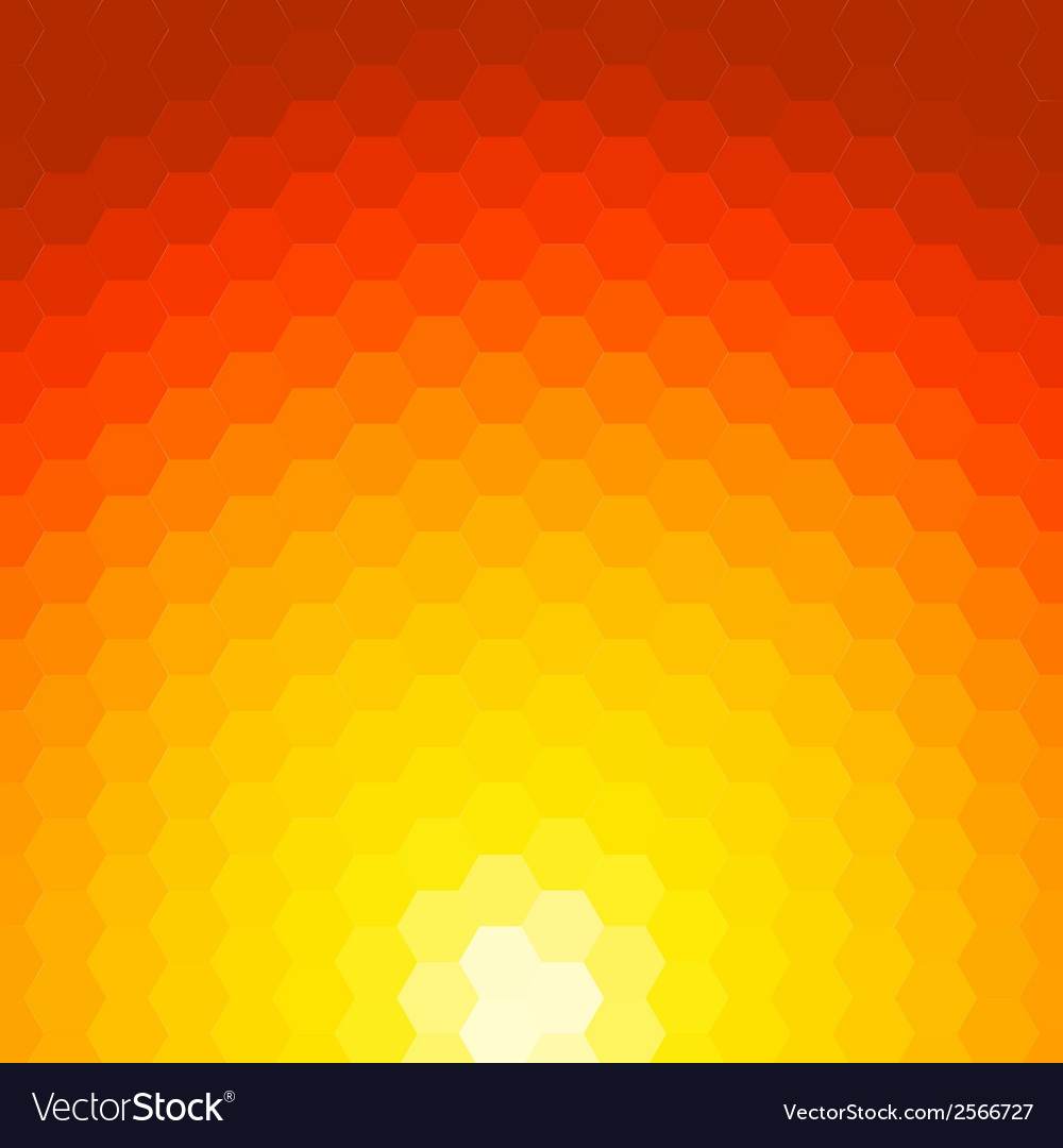 Abstract sunset background made of geometric