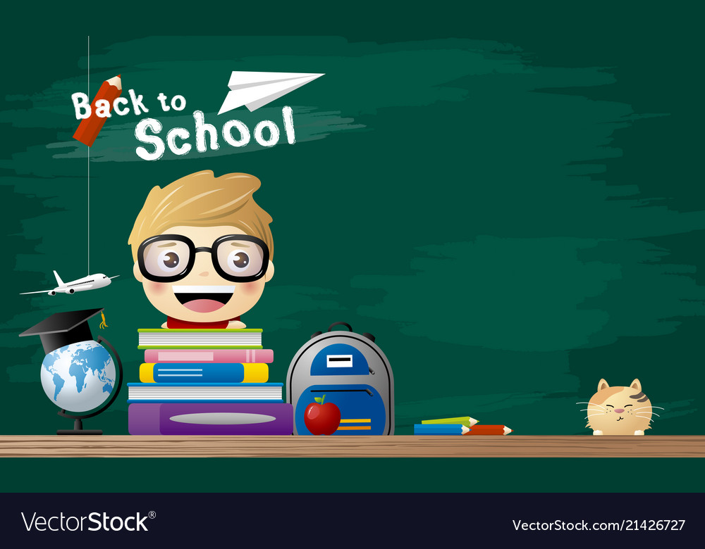 Back to school concept of student with book in