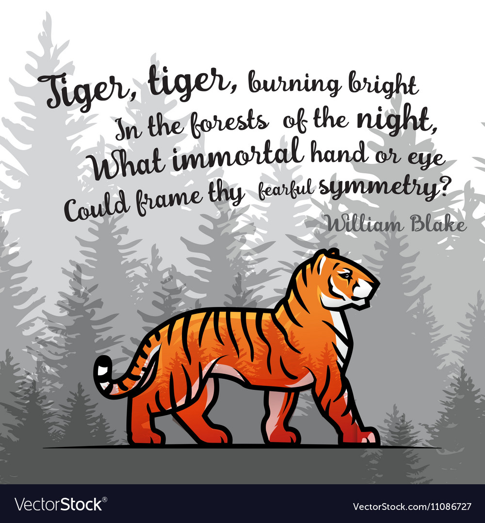 Bengal Tiger in forest poster design Double vector image