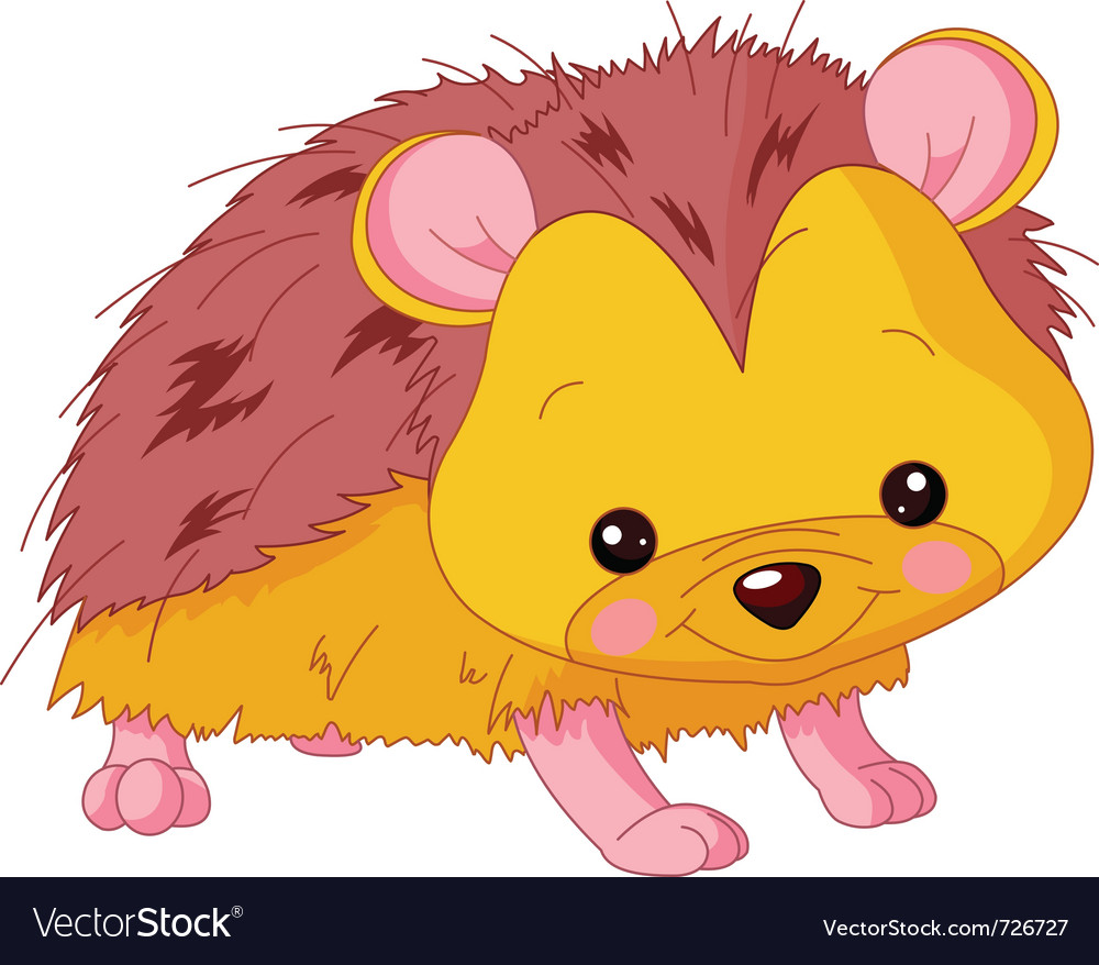 Cartoon hedgehog vector image