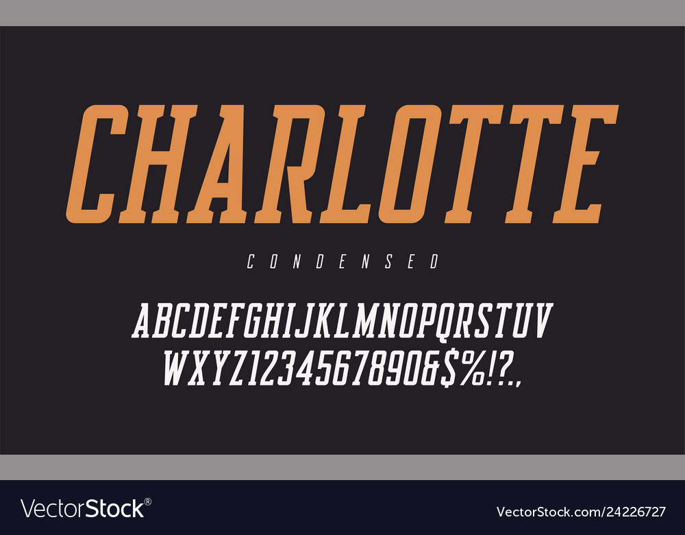 Condensed oblique rerto uppercase letters and