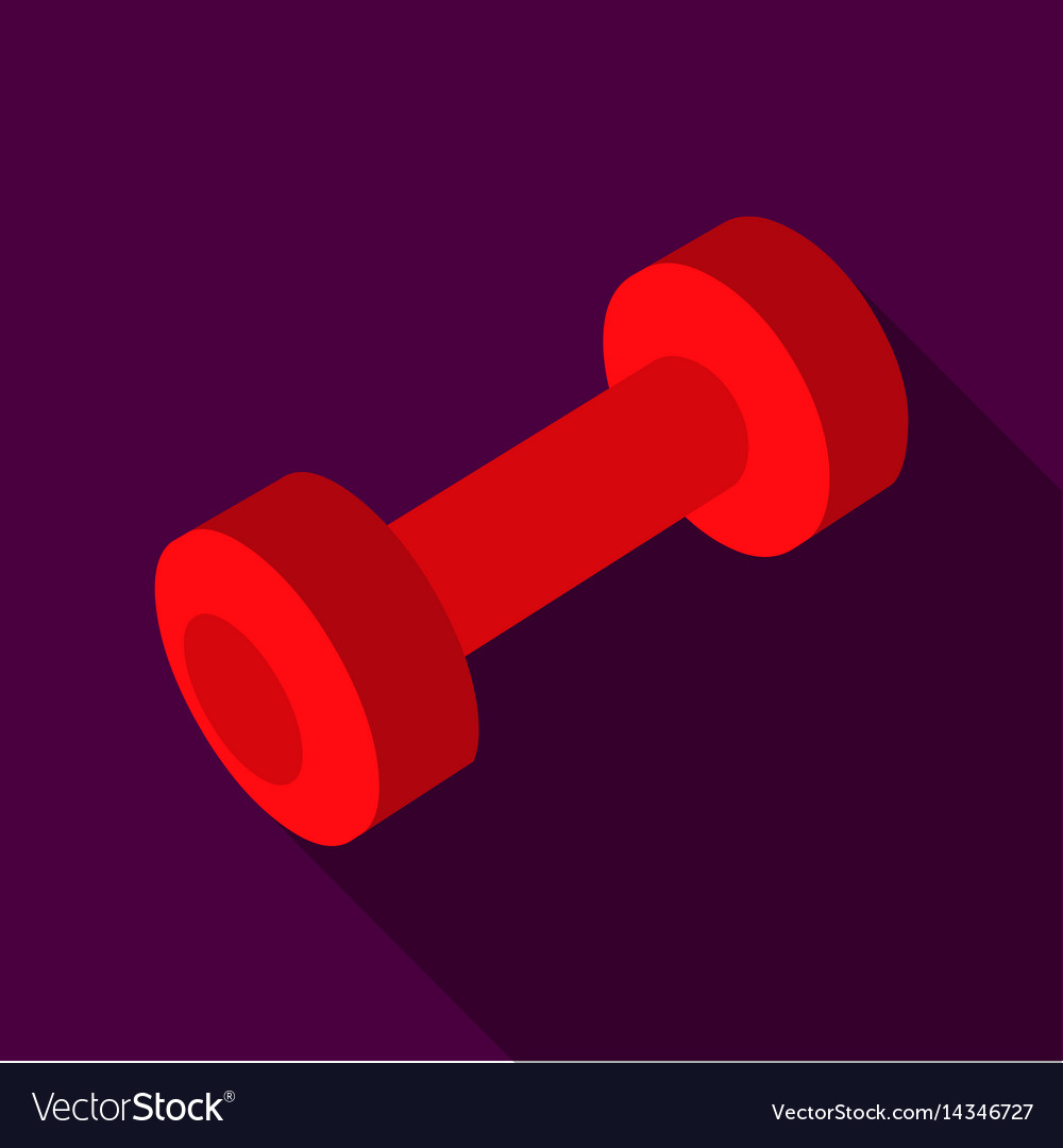 Dumbbells icon flate single sport icon from the vector image