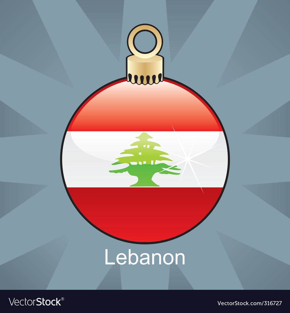 Lebanon flag on bulb