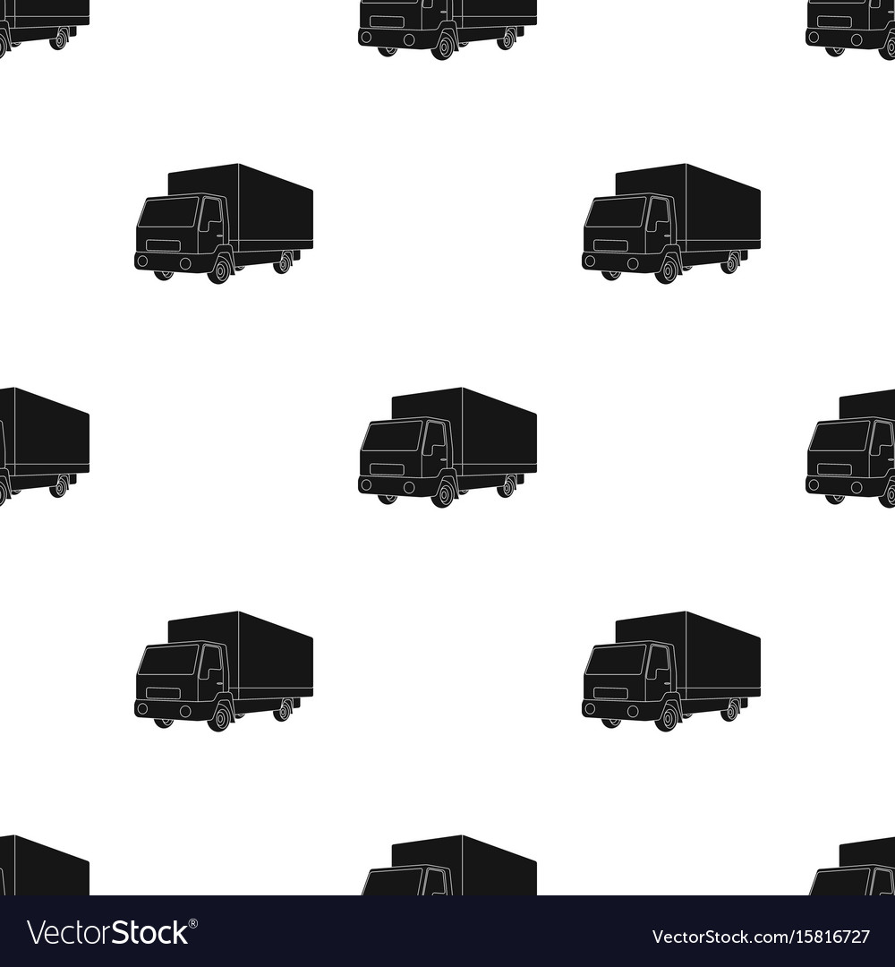 Truck with awningcar single icon in black style
