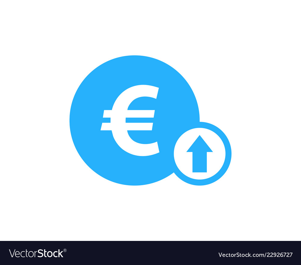 Up stock market business logo icon design