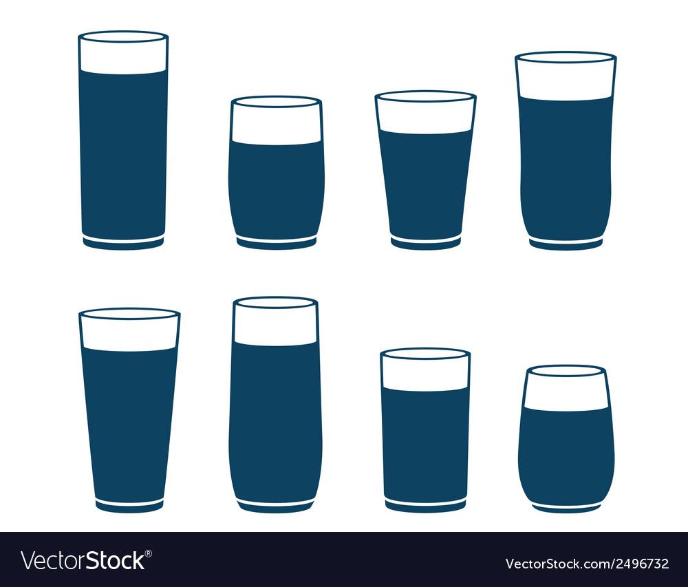 Blue water glass set
