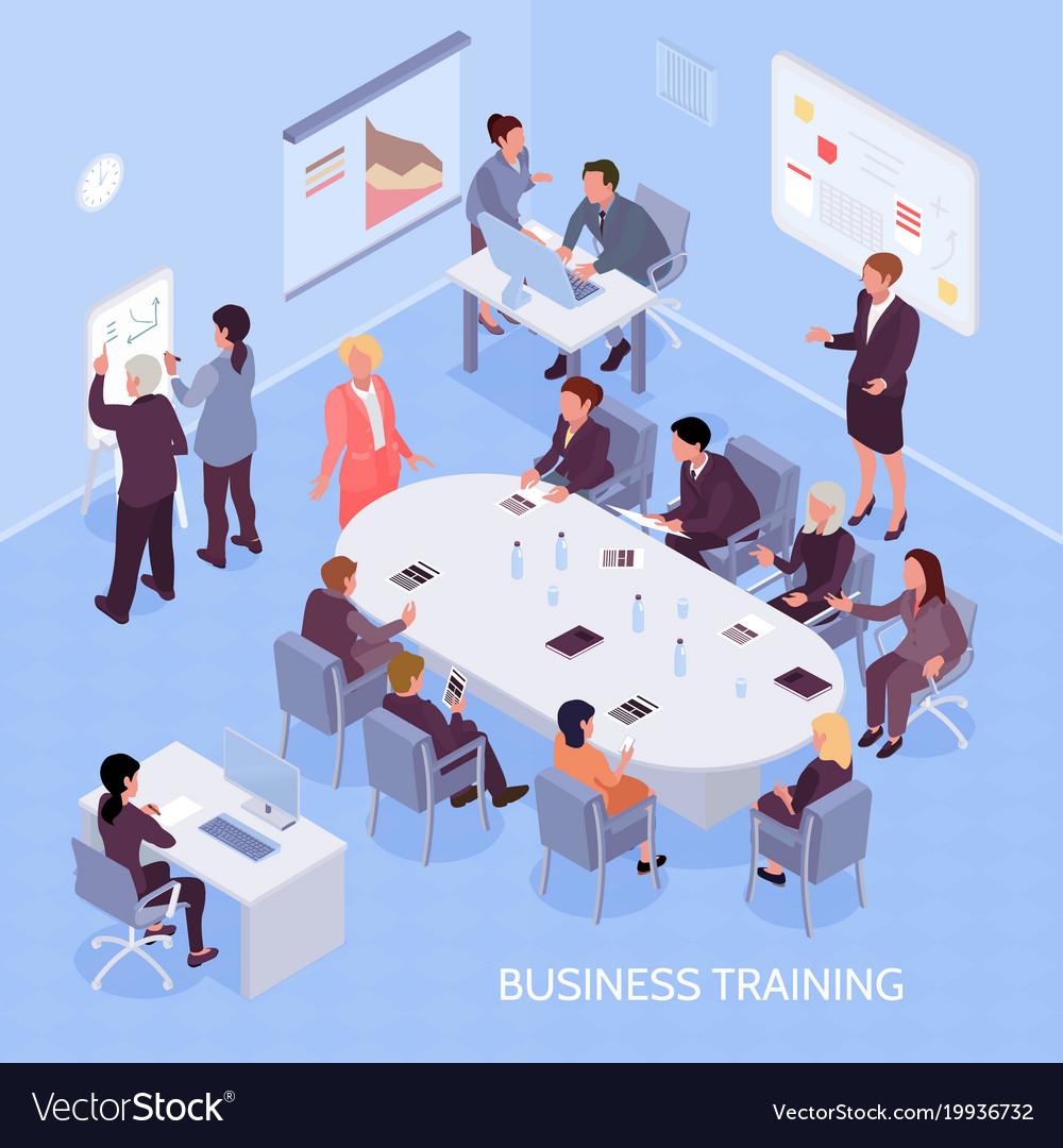Business training isometric