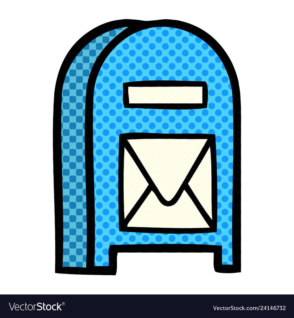 Comic book style cartoon mail box