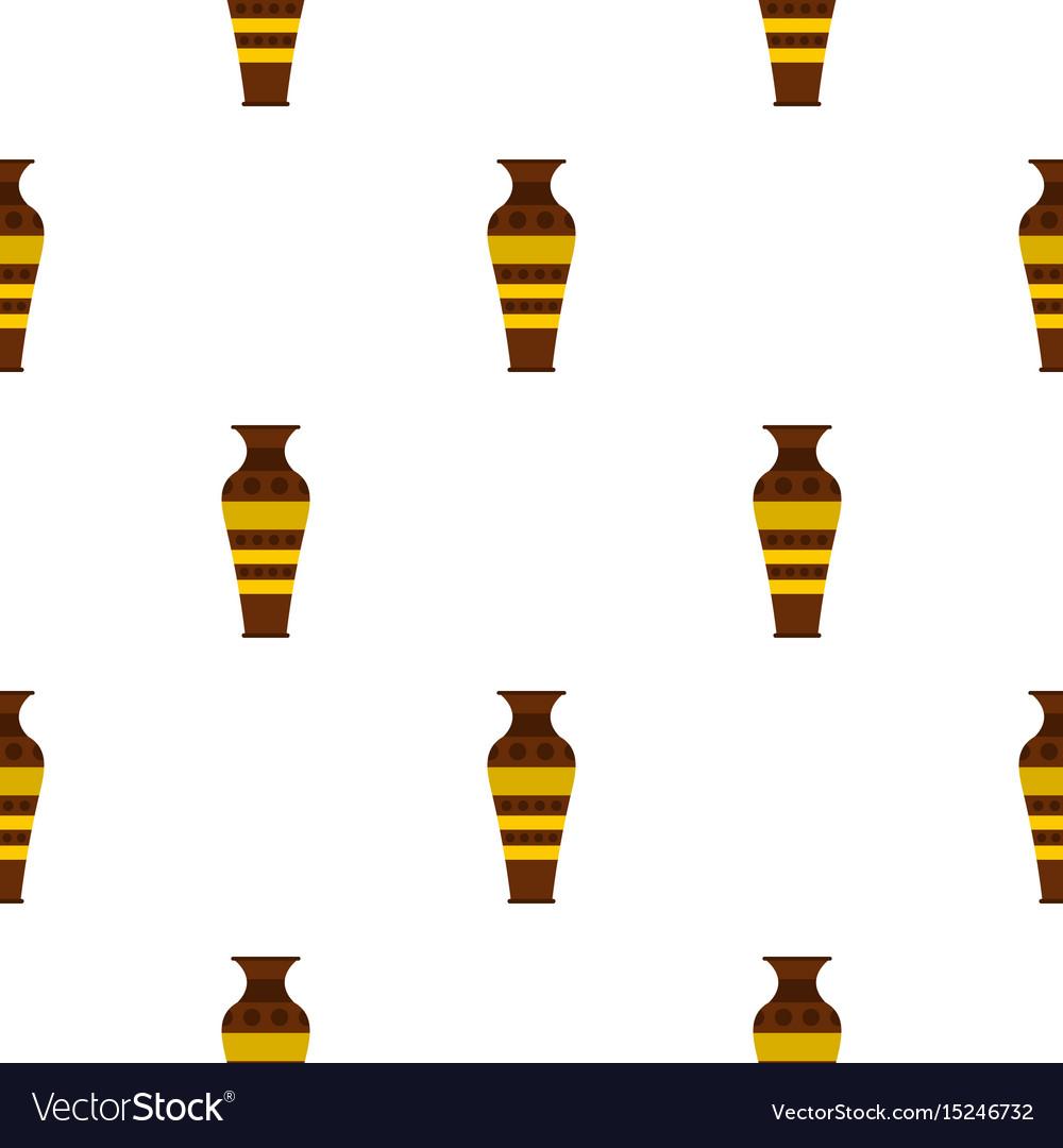 Egyptian pottery vessel pattern seamless