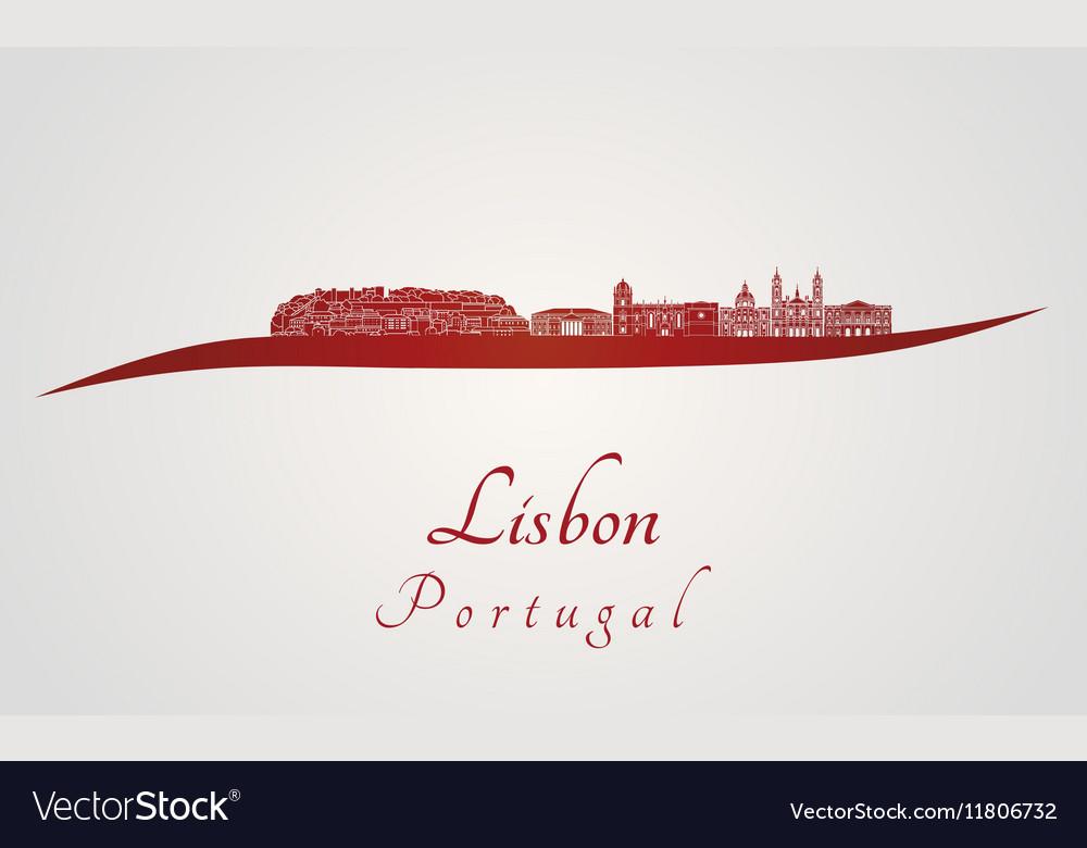 Lisbon V2 skyline in red