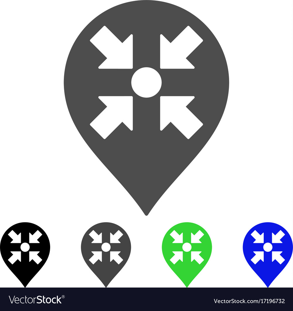 Meeting Point Marker Flat Icon Royalty Free Vector Image