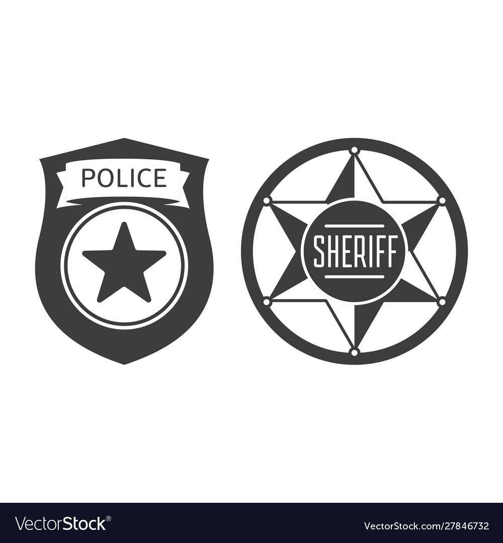 Sheriff and police badge icon