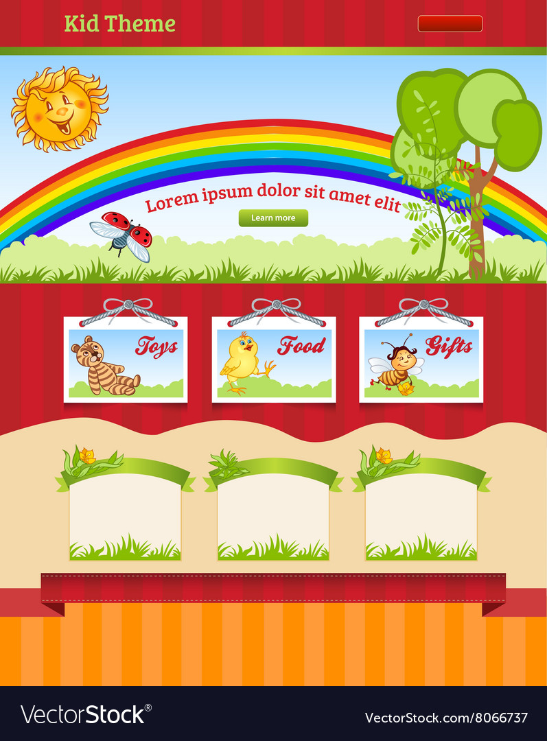 Cartoon background for kid web template