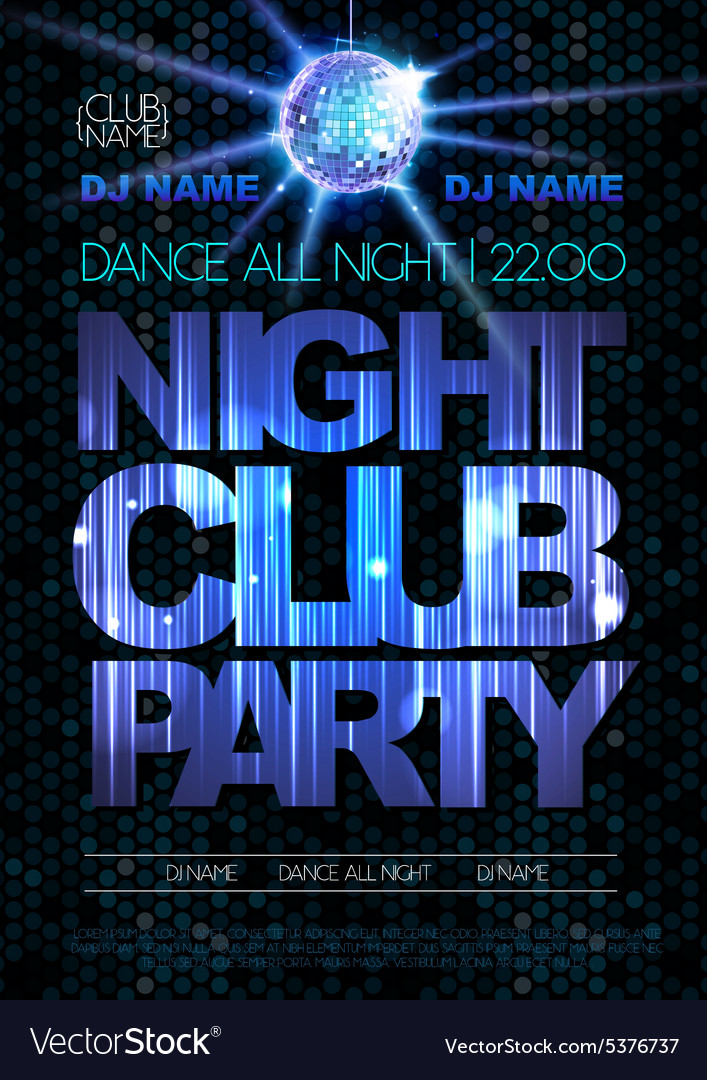 Disco background Disco poster Night club party