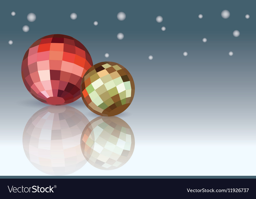 Red and yellow Christmas Balls
