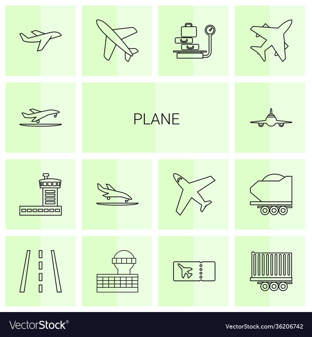 14 plane icons