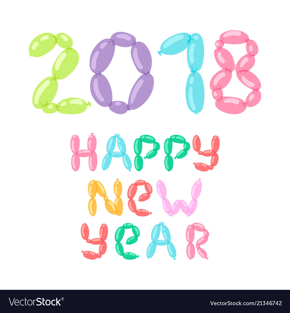 2018 happy new year text design for christmass