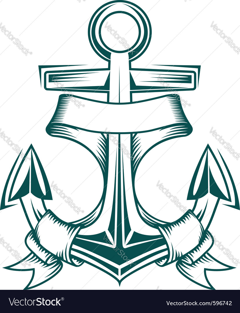 Ancient anchor vector image