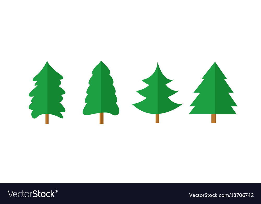 Christmas Shapes.Christmas Tree Shapes