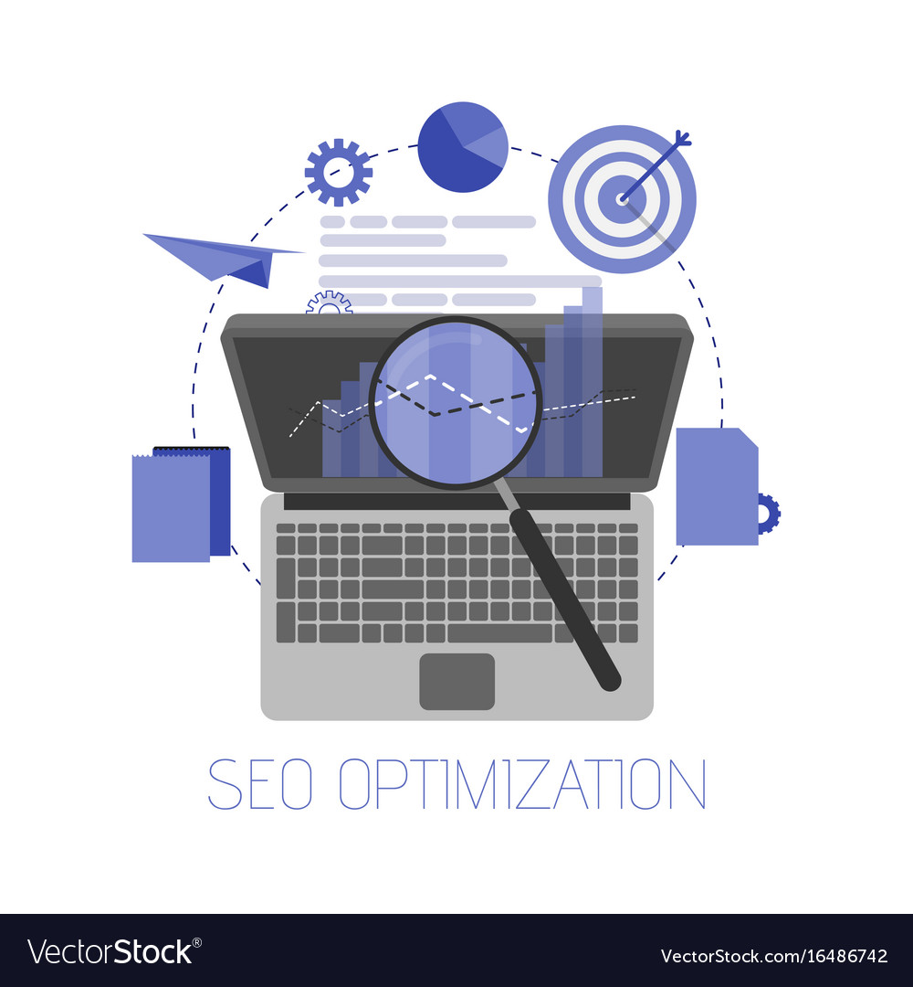 Flat background seo search engine optimization