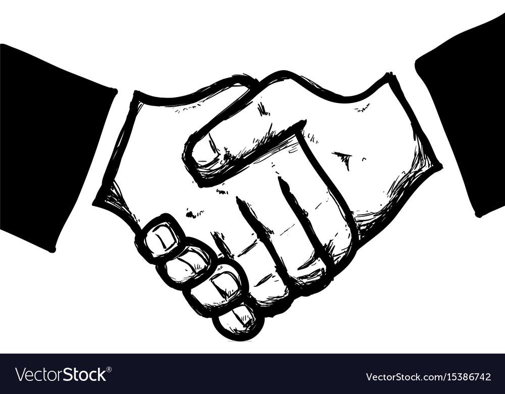 Handshake business symbol
