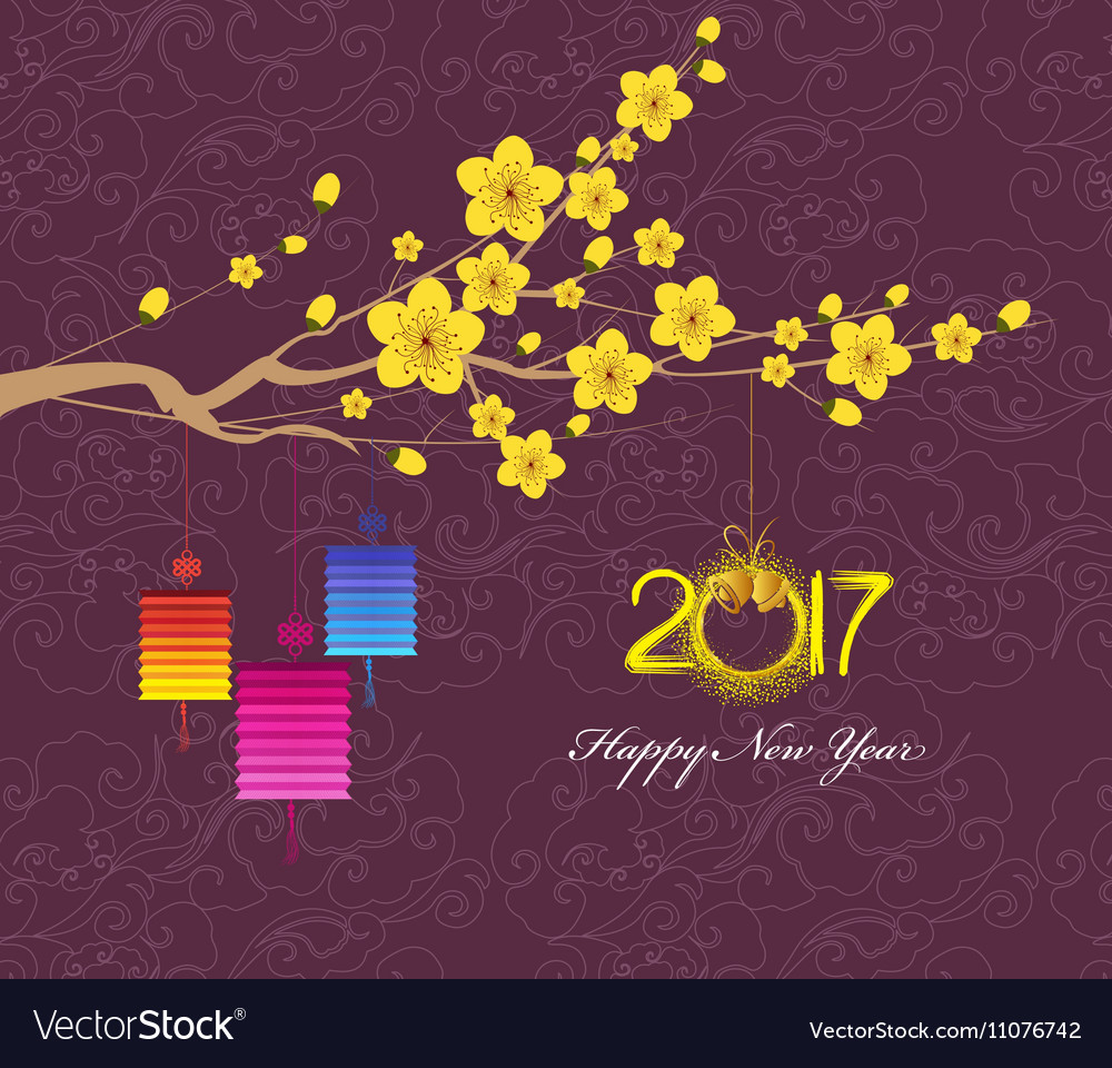 Happy New Year 2017 Greeting Card Chinese New Year