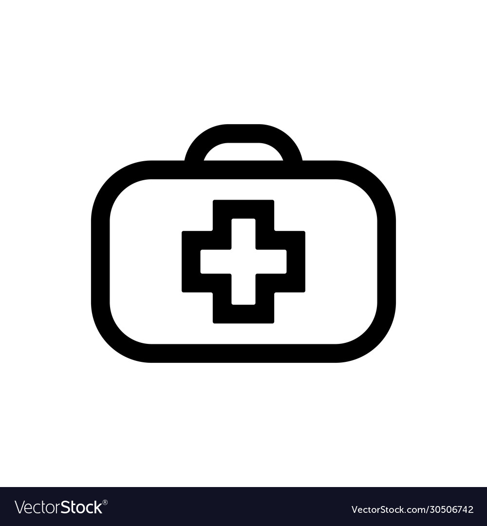 Medical bag line icon outline sign linear style