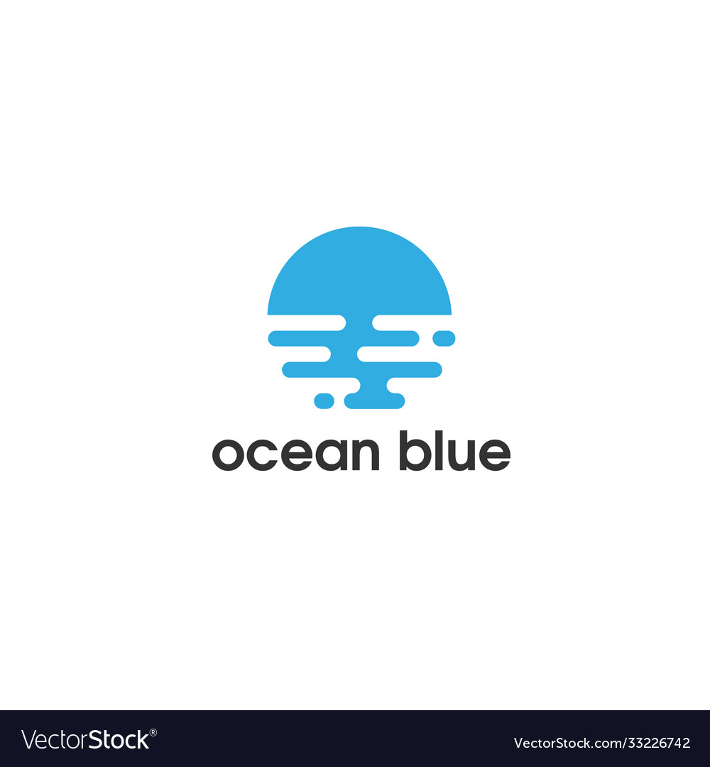 Ocean blue flat logo