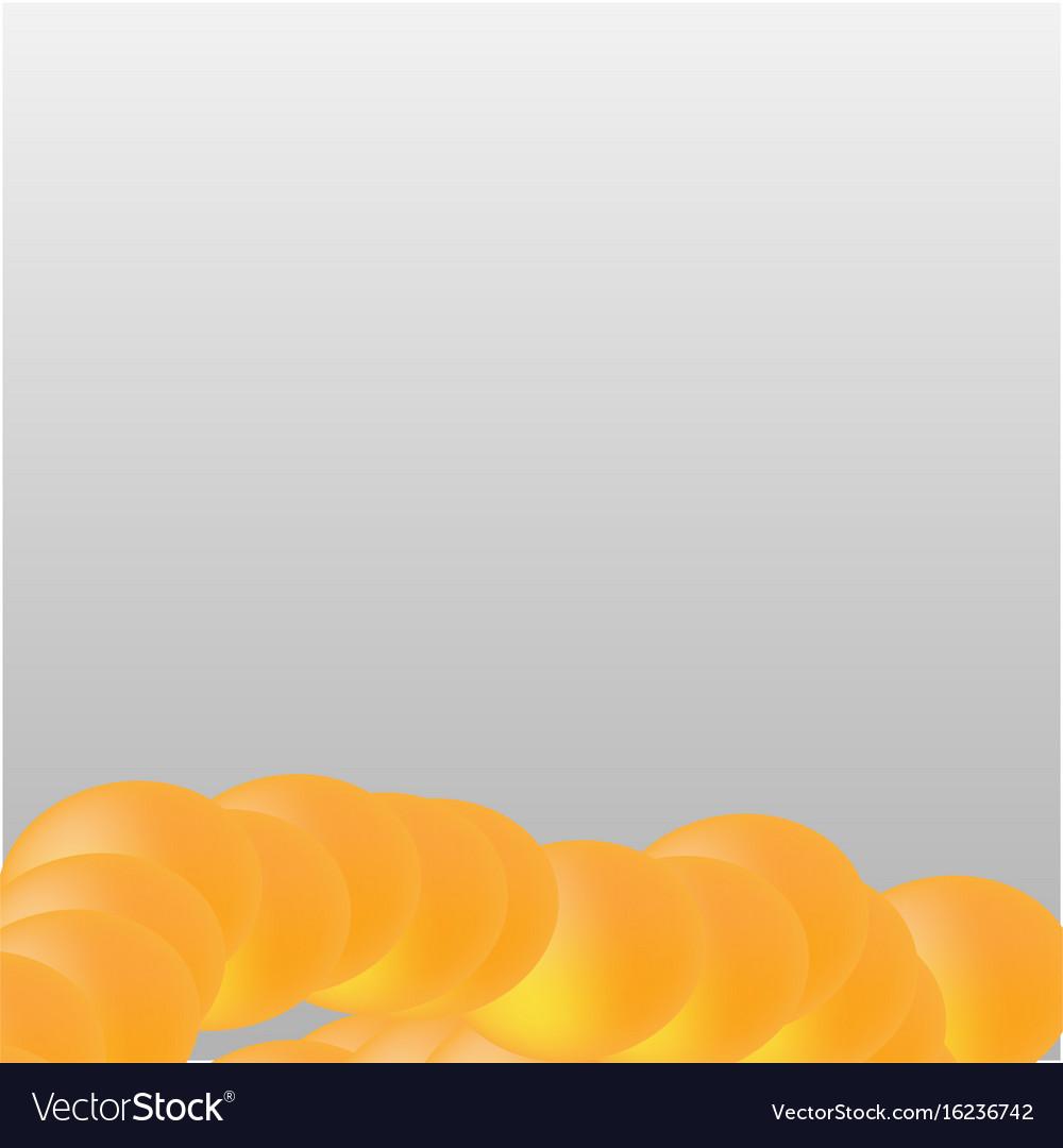 Orange circle shape on white grey background