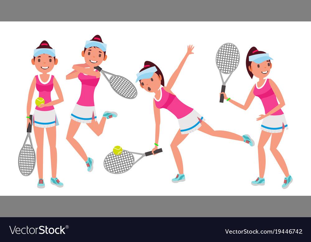 Professional tennis player summer sport