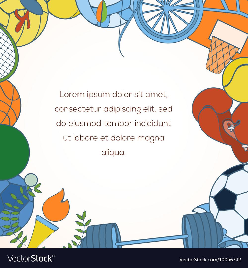 Sport Invitation Card Royalty Free Vector Image