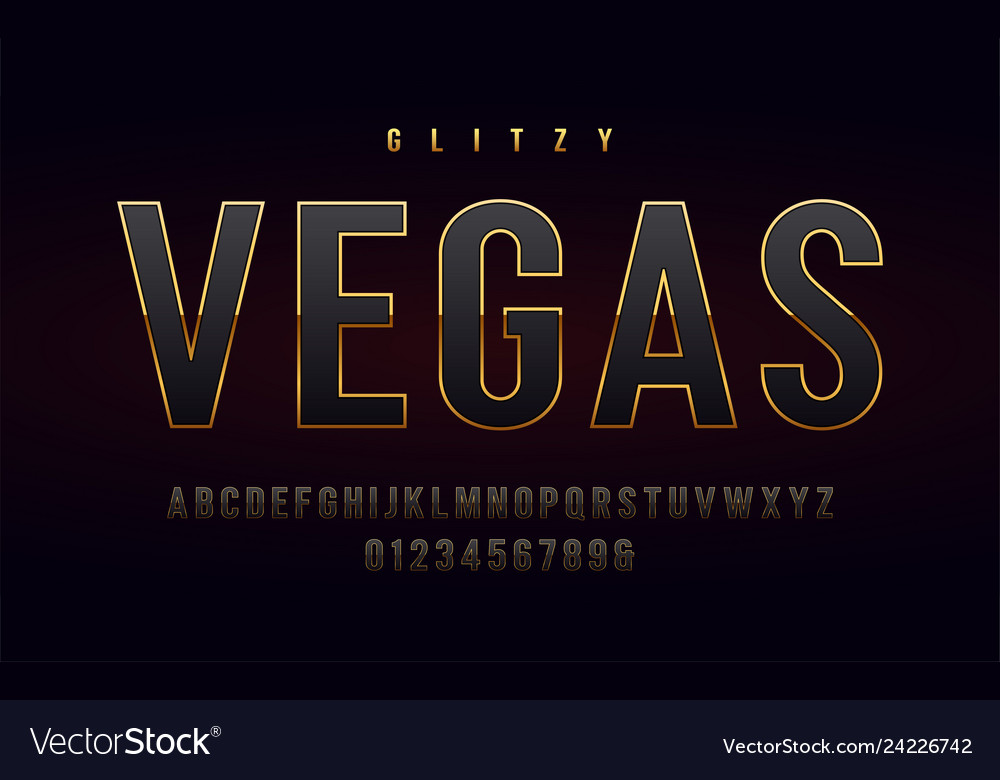 Stylish gold framed uppercase letters and numbers