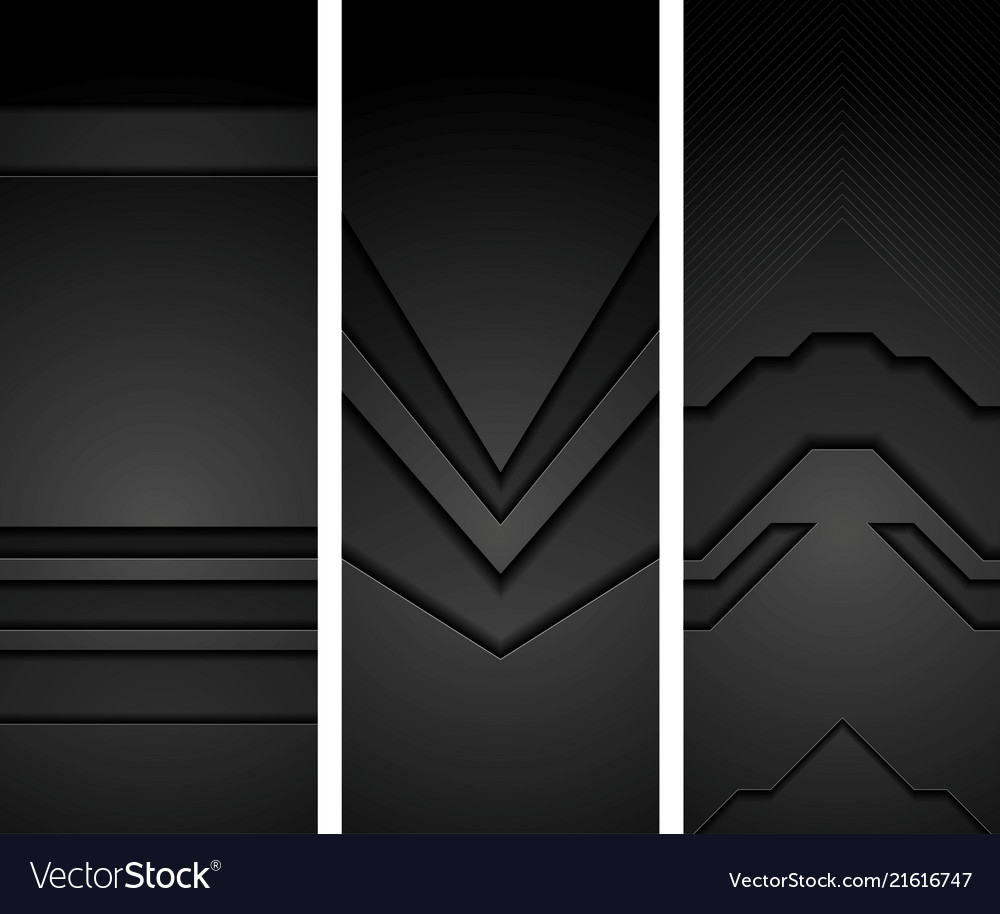 Abstract black concept tech vertical banners