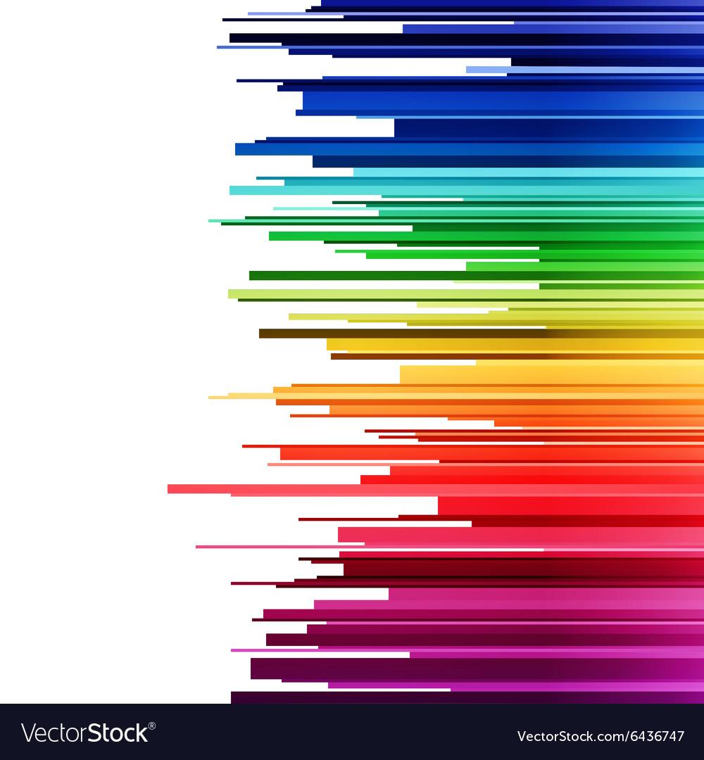 Abstract infographics horizontal rainbow gradient
