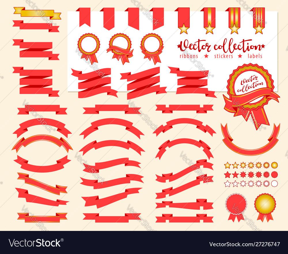 Collection decorative design elements