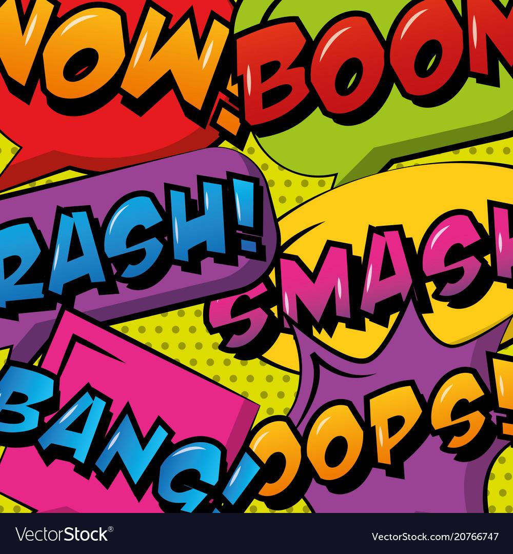 Comic pop art speech bubble