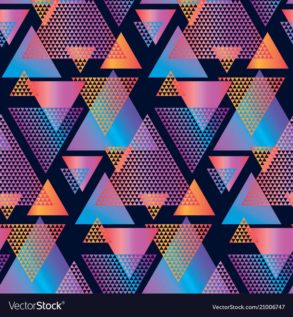 Concept triangle geometric seamless pattern