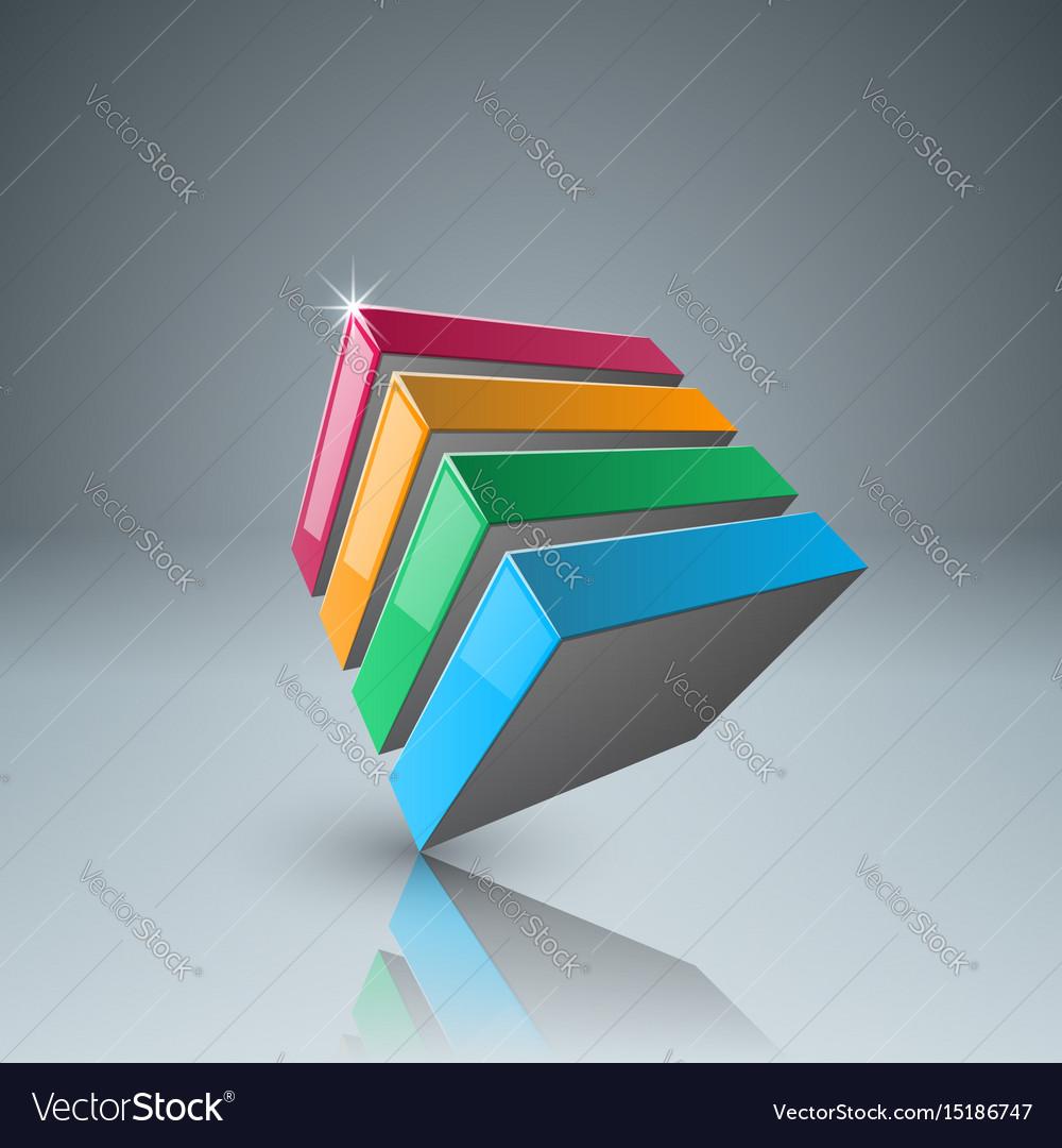 Four color box icon