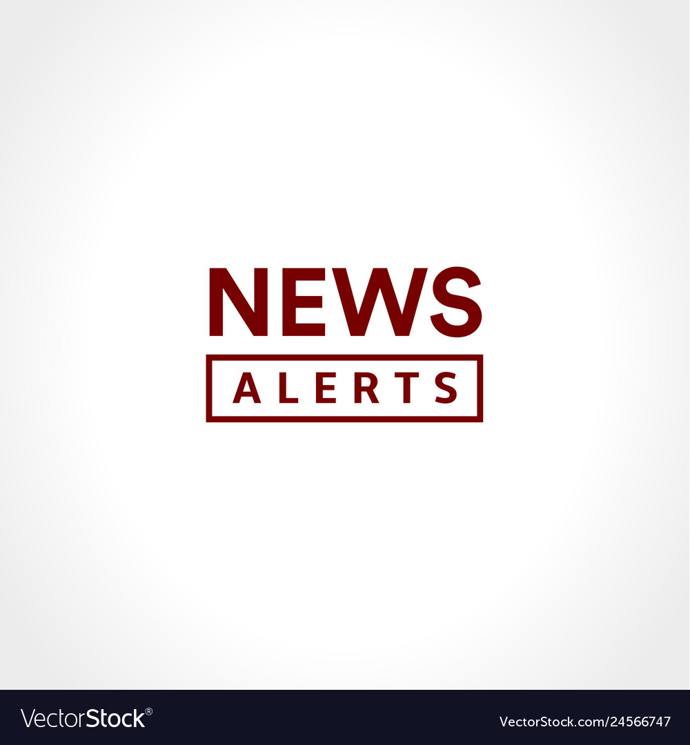 News alerts simple text icon minimalistic style