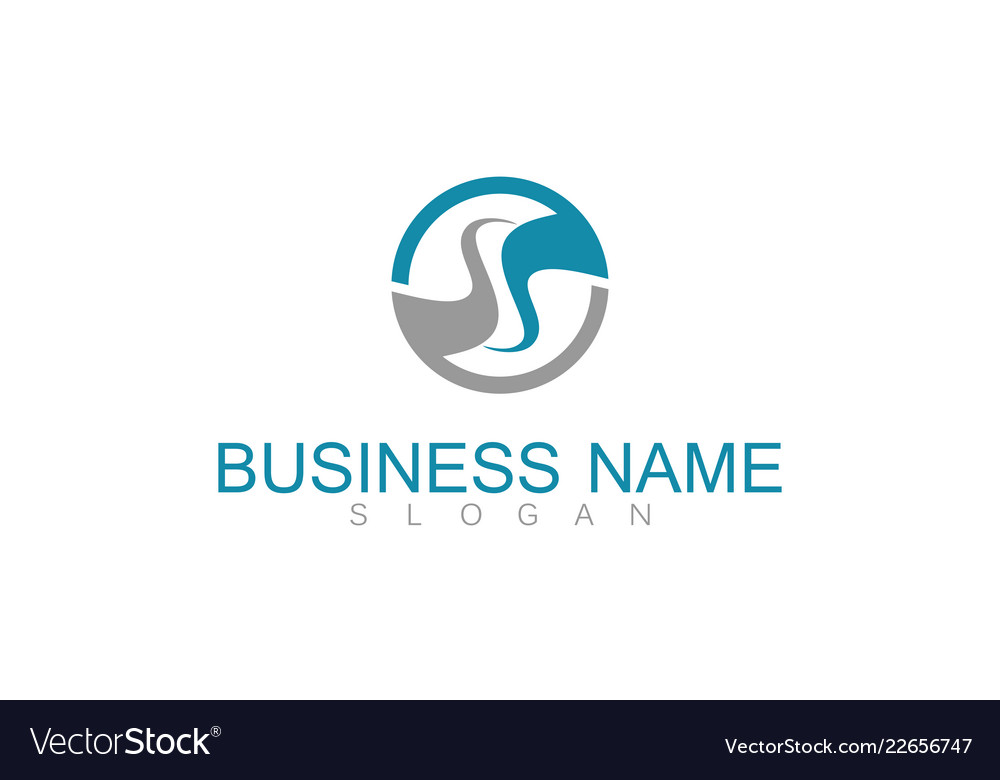 Round letter s business logo