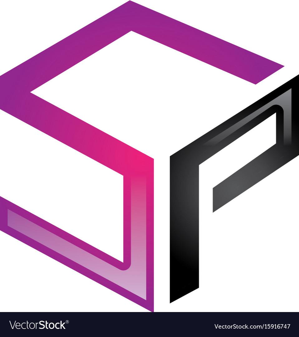Sp letter logo vector image