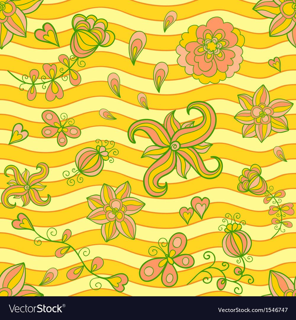 Summertime seamless pattern vector image