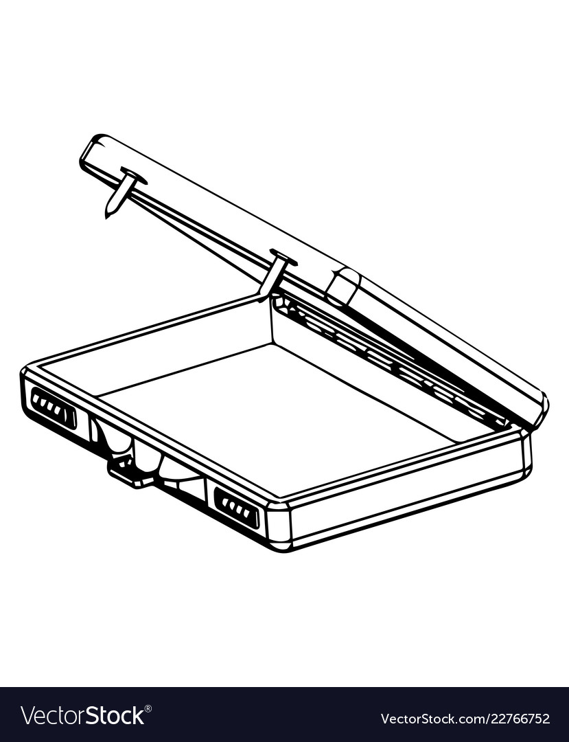 3d model suitcase on a white