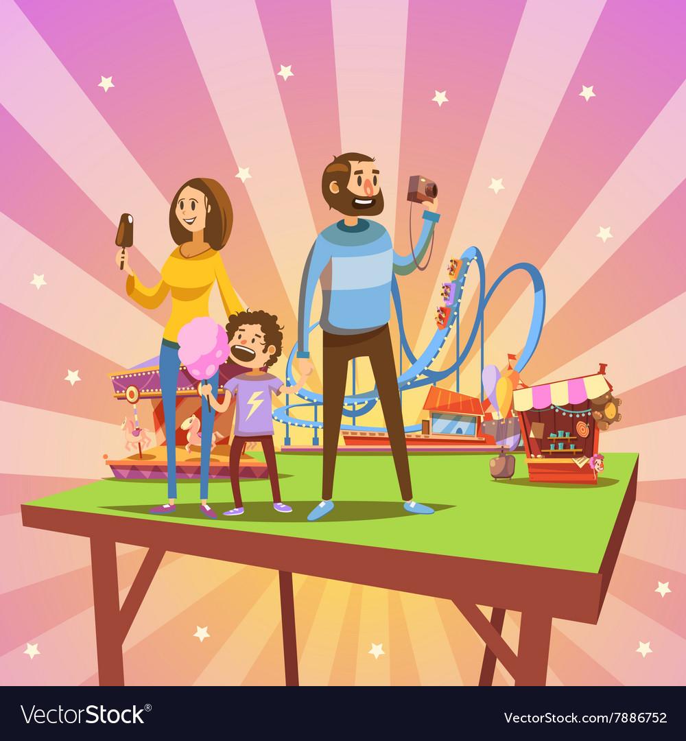 Amusement park cartoon
