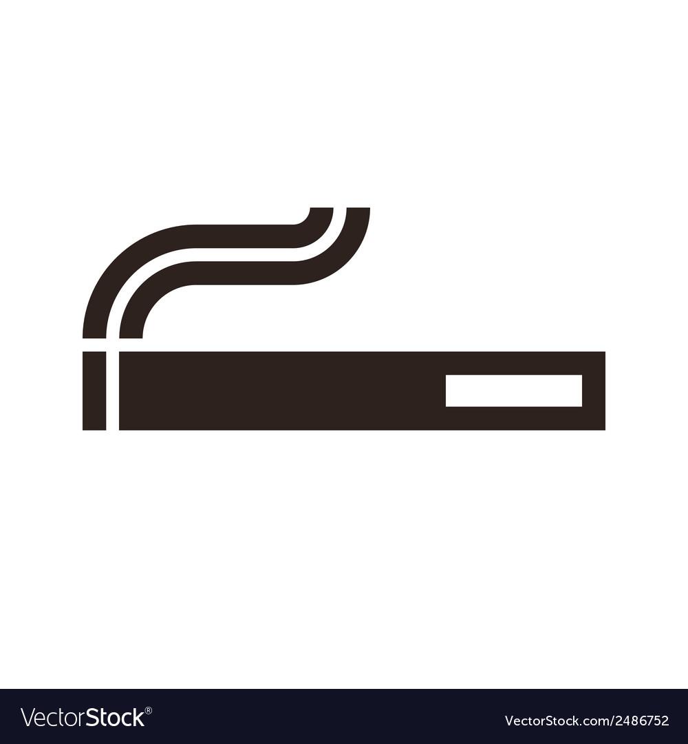cigarette sign royalty free vector image vectorstock