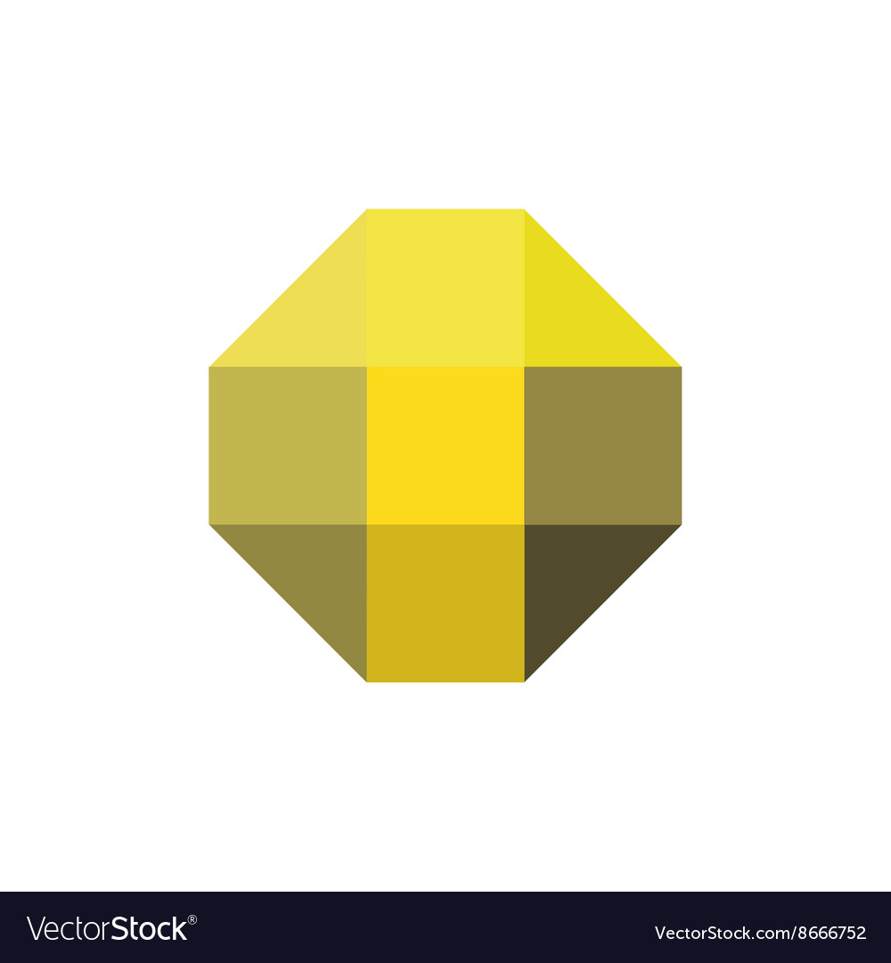 Letter T in the form of abstraction yellow vector image