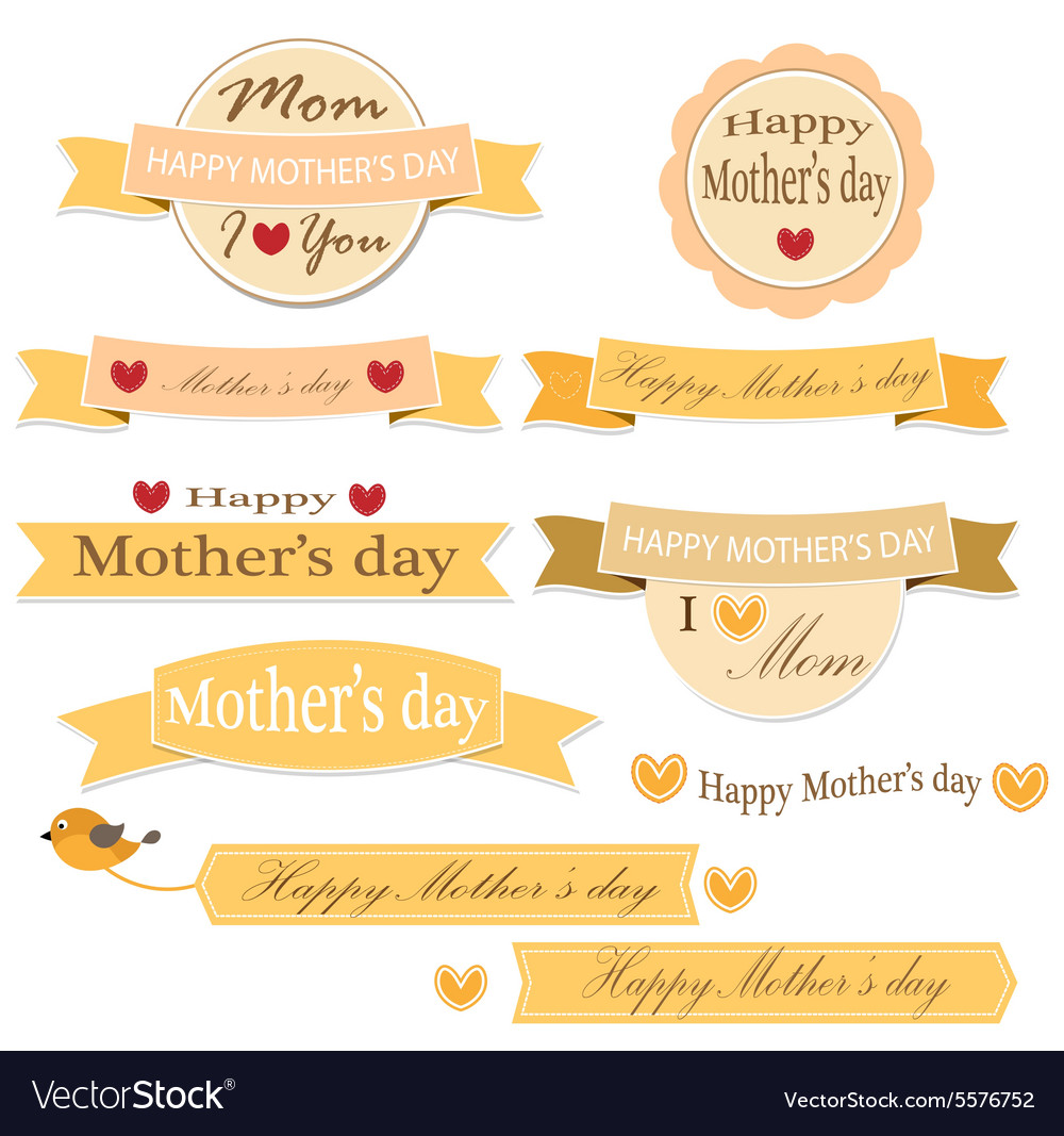 Mother day label set