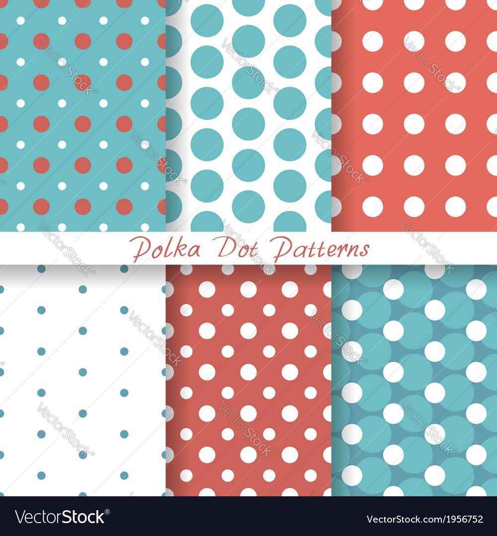 Pastel seamless patterns Polka Dot